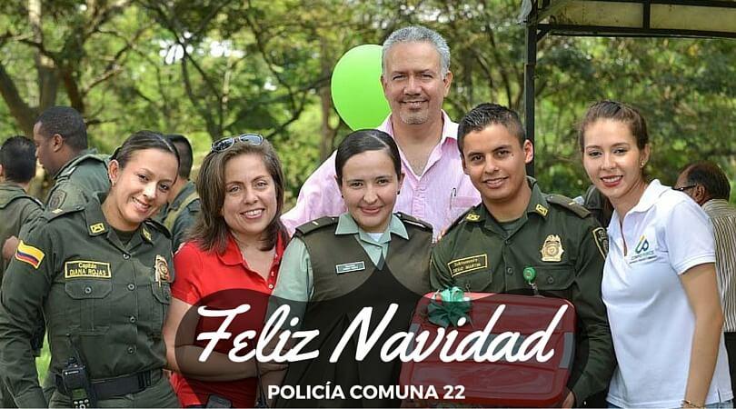 Estación de Policía La Maria – Celebración navidad 2015.