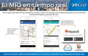 Moovit, conoce en tiempo real la informacion de las rutas del MIO.