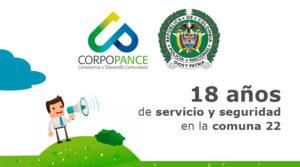 18 años de servicio y seguridad en la comuna 22