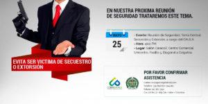 Reunión Plenaria: Como evitar ser victima de secuestro o extorsión