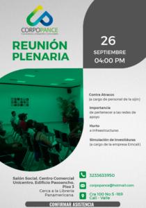 Reunión Plenaria 26/9/17 – Varios temas a tratar.