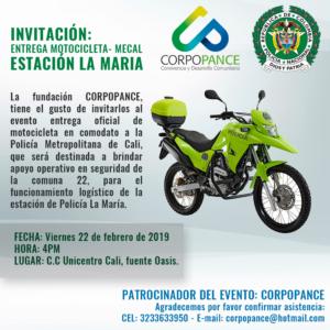 Evento: Entrega de Moto a la estación La María