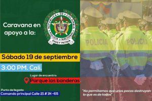 Caravana en apoyo a la Policía Nacional